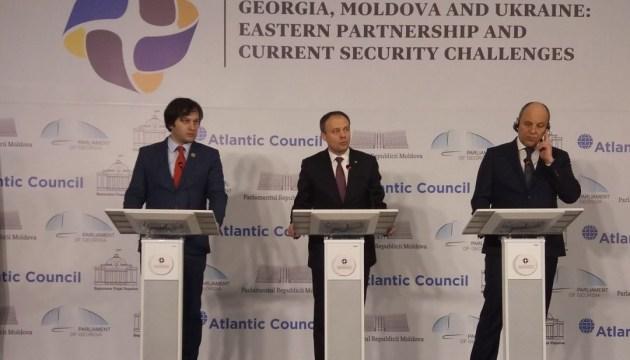 Украина предлагает Молдове и Грузии общую стратегию по безопасности