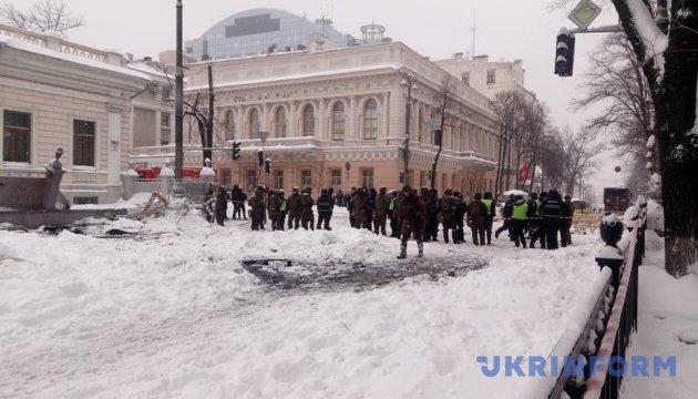 Пикетчики заблокировали движение транспорта под Радой