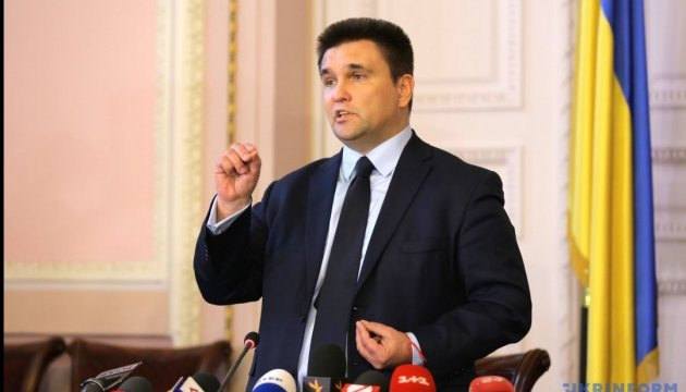 Klimkin discusses cancellation of visas, free trade in Macedonia