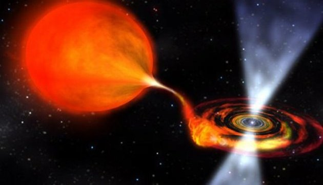 """Ученые впервые наблюдали, как звезда-вампир """"ворует"""" материю у соседки"""