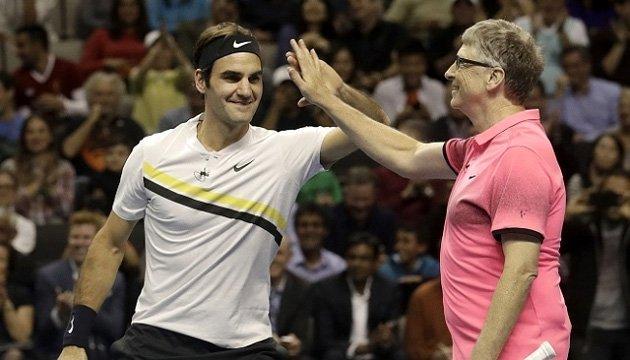 Теніс: Федерер зібрав понад $2,5 млн на благодійному матчі з Біллом Гейтсом