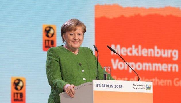 Меркель відкрила туристичну виставку в Берліні