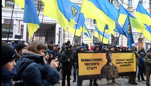 Une action en soutien du militaire ukrainien détenu en Italie organisée à Kyiv