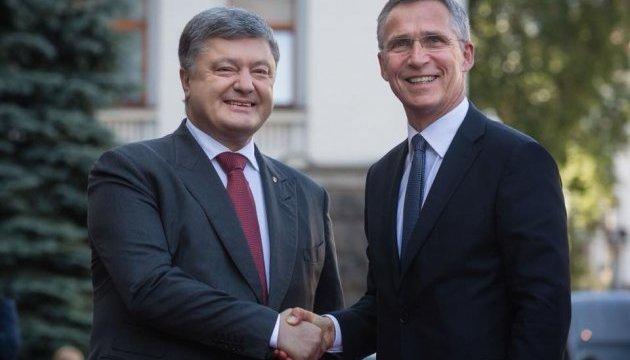 Генсек НАТО встретится с Порошенко