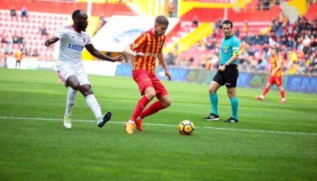 Артем Кравець забив два м'ячі у чемпіонаті Туреччини