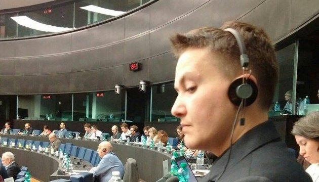 Савченко опублікувала фотографії з сесії ПАРЄ