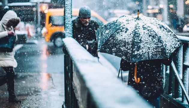 На вихідних у Києві – снігопади, хуртовини і 11° морозу