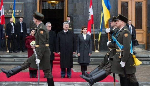 Порошенко зустрівся з президентом Австрії