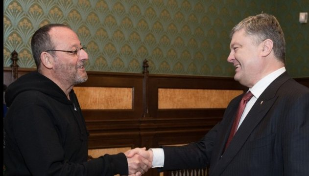 Именно в Украине стоит снимать кино – Президент встретился с Жаном Рено