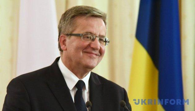 Коморовський: Польсько-українські конфлікти завжди використовує третя сторона
