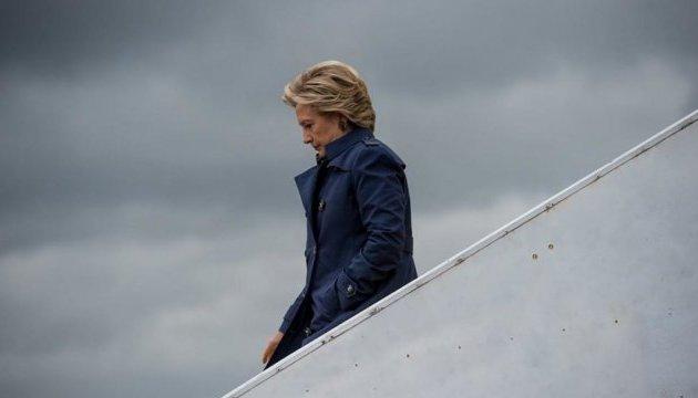 Клинтон с травмой попала в индийскую больницу