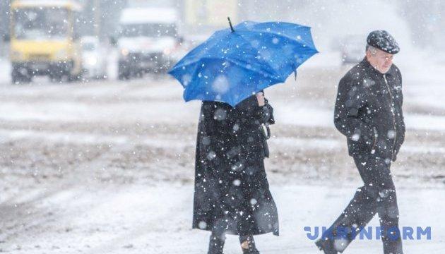 У вівторок снігопади накриють п'ять областей