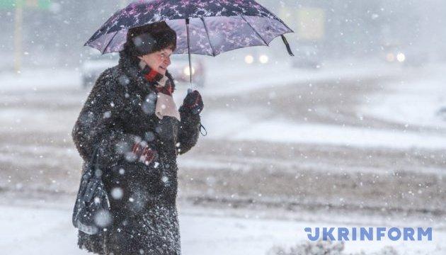 Суббота в Украине будет со снегом и дождем