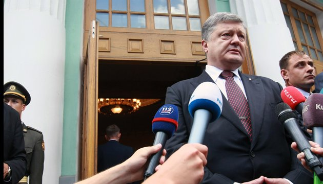 Poroshenko calls on international partners to toughen sanctions against Russia
