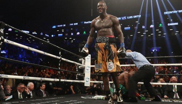 Бокс: Деонтей Уайлдер отправил чучело Энтони Джошуа в нокаут