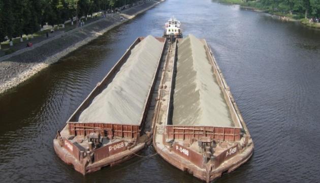 Transport per Fluss Dnipro zugenommen