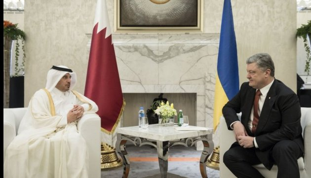 Порошенко проводить зустріч з прем'єром Катару