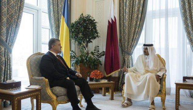 Порошенко обговорив із Еміром Катару поставки скрапленого газу в Україну