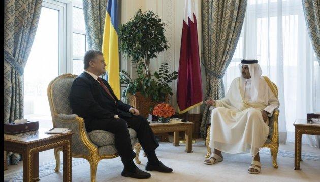 Poroschenko: Katar ist bereit, Flüssiggas an Ukraine zu liefern