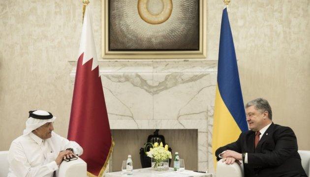 Енергетика, порти й літаки: У Порошенка розказали про перспективи співпраці з Катаром