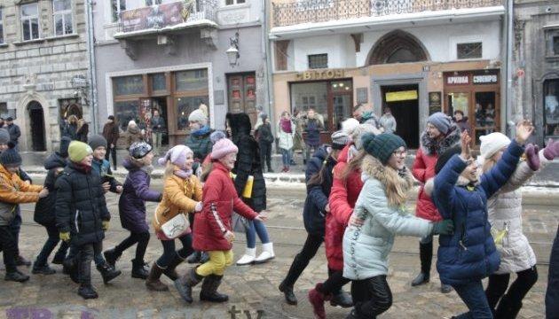 У Львові провели флешмоб на підтримку людей із синдромом Дауна