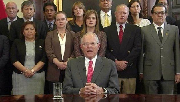 Корупційний скандал в Перу: Президент подав у відставку