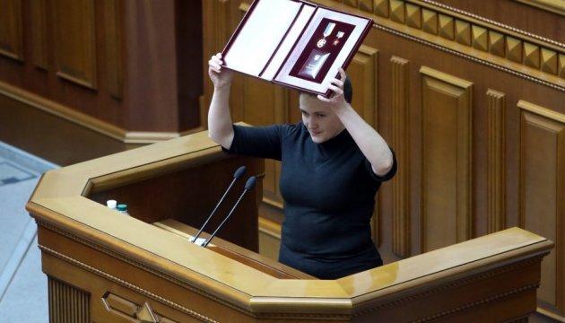 Савченко передумала отдавать Звезду Героя