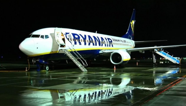 Ryanair plans to carry 635,000 passengers in a year to and from Ukraine