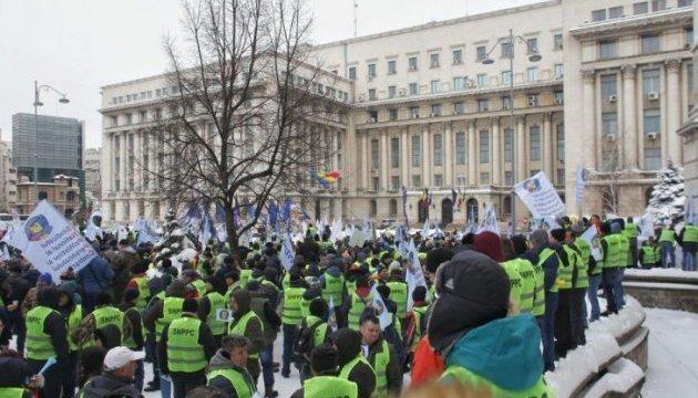 В столице Румынии протестуют правоохранители: требуют денег и выходных