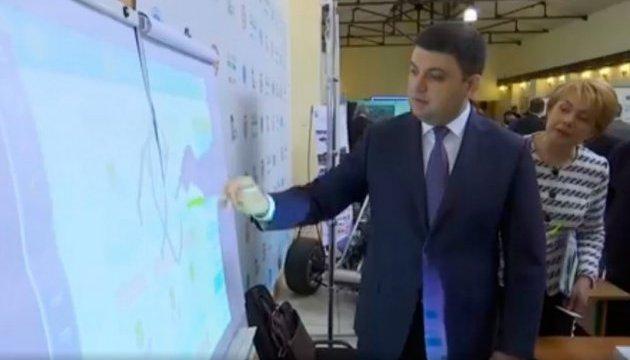 Le Premier ministre ukrainien teste le dispositif CamTouch
