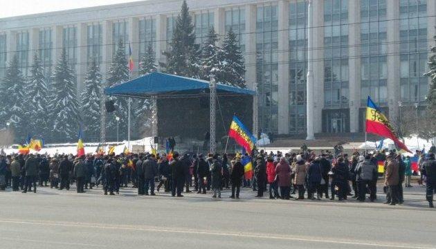 На мітинг із нагоди 100-річчя об'єднання Молдови з Румунією приїхав Бесеску