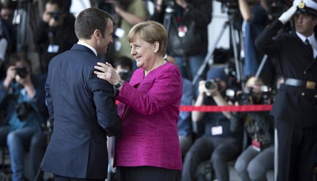 У Макрона назвали дату зустрічі з Меркель