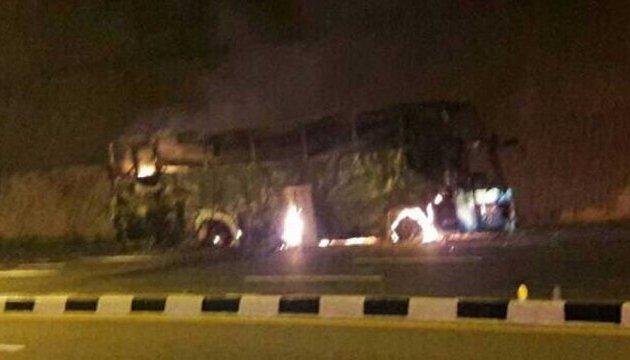У Таїланді під час руху загорівся автобус з нелегалами, є жертви