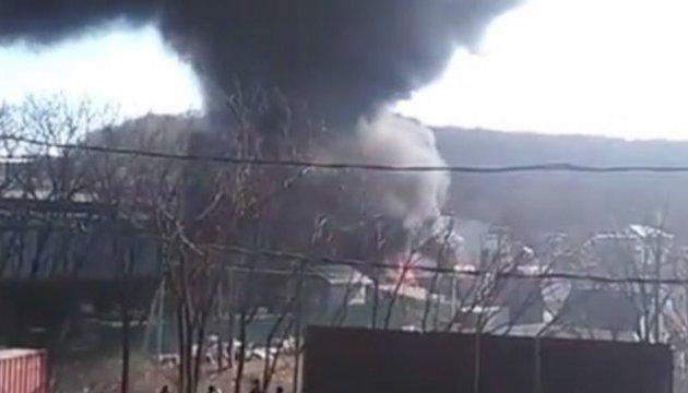 Российские СМИ сообщают о большом пожаре во Владивостоке