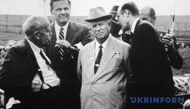 Микита Хрущов у американського фермера-мільйонера Росуела Гарста (ліворуч). Вересень 1959 року. Фото: Укрінформ