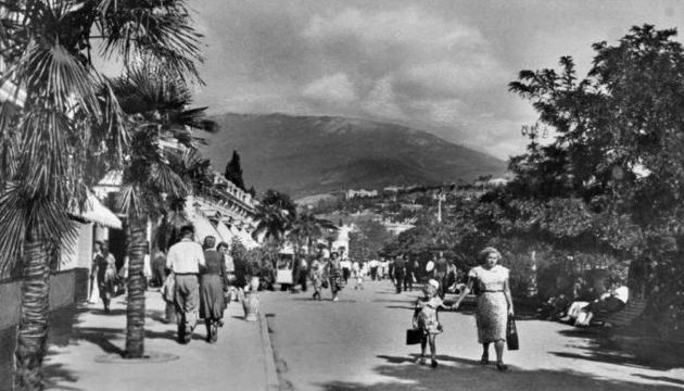 Набережна Ялти, 1950-ті роки. Фото: Twitter