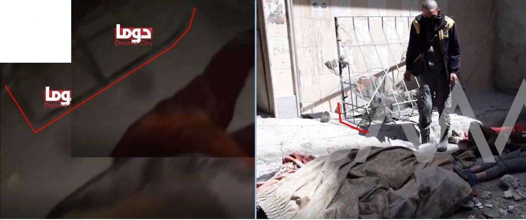 На Видео 1 и Видео 3 видна оконная решетка рядом с дверным проемом. Слева: Видео 1, справа: Видео 3