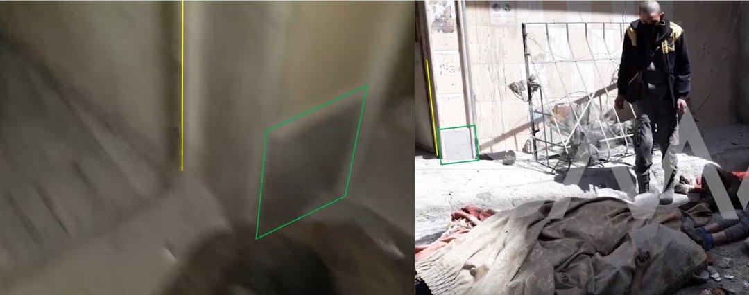 Дверной проем одной и той же конструкии виден на Видео 1 и Видео 3. Слева: Видео 1, справа: Видео 3