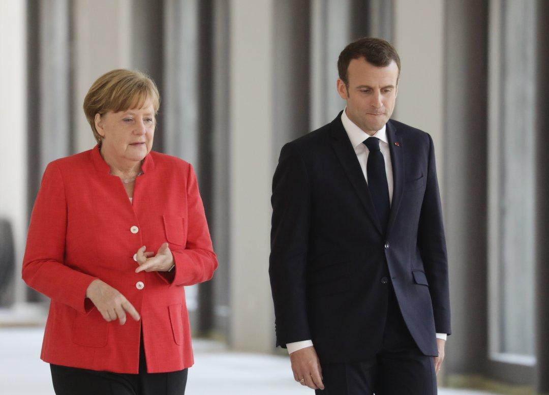 Канцлер Німеччини Ангела Меркель і президент Франції Еммануель Макрон