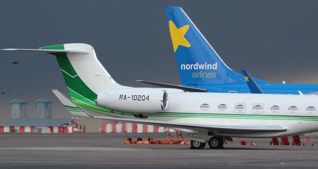 Самолет главы правления Сбербанка Росии с бортовым номером RA-10204