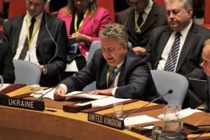 【国連安保理】露はまだドンバスで戦争を継続、OSCEの監視を妨害=ウクライナ外務次官