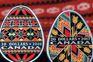 Real Casa de la Moneda Canadiense emite una nueva moneda de huevo de Pascua de Ucrania (Fotos)