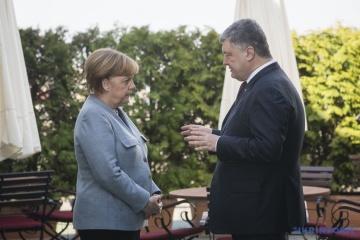 乌克兰总统彼得•波罗申科抵达德国进行访问