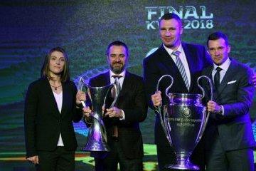 Zeremonie der Übergabe der Cups der UEFA Champions League am 21. April in Kiew
