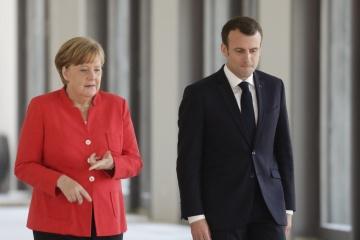 メルケル独首相とマクロン仏大統領、EU首脳会合で、「ミンスク諸合意」履行状況を報告の予定