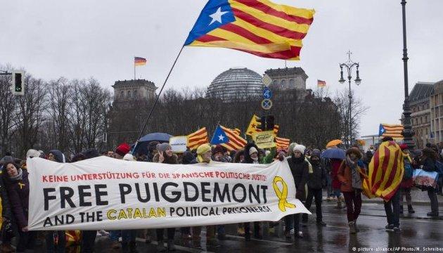В Берлине прошла акция за освобождение Пучдемона из-под стражи