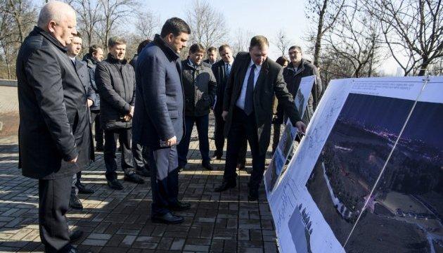 Гройсман заклав капсулу будівництва другої черги Меморіалу жертв Голодомору