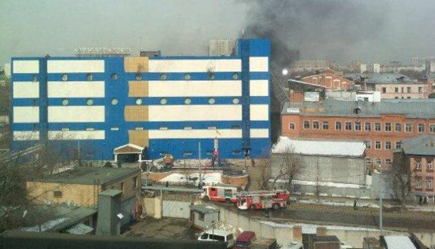 В Москве горит торговый центр, есть пострадавшие - СМИ