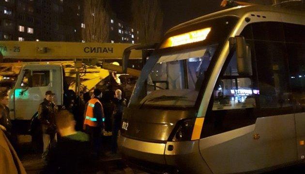 У Києві з колії зійшов швидкісний трамвай