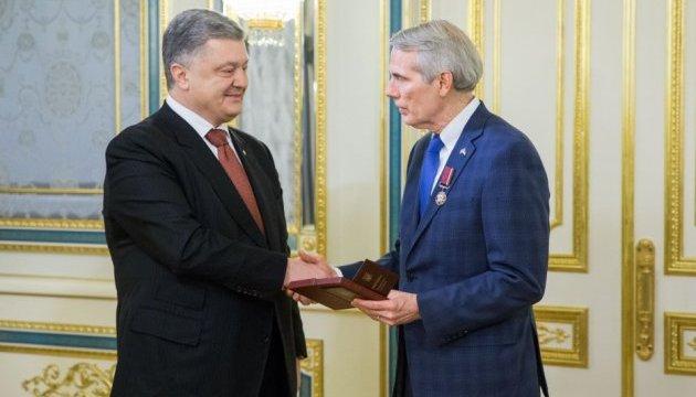Президент нагородив сенатора США Портмана орденом «За заслуги»
